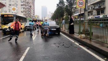 Kayganlaşan yolda servet değerinde kaza