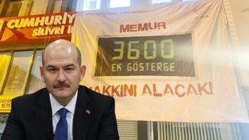 CHP'nin 3600 ek gösterge kampanyasına Bakan Soylu'dan cevap