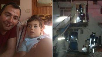 Çocuğunun yanan evde olduğunu düşünüp içeri giren baba hayatını kaybetti