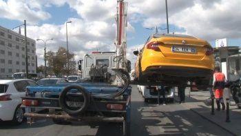 Denetimler sürüyor: Müşteri seçen şoförün taksisi bağlandı