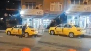 Eski çalıştığı durağın taksisini paramparça etti!