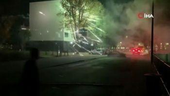 Fransa'da ortalık karıştı: Polise havan toplu molotof kokteylli saldırı
