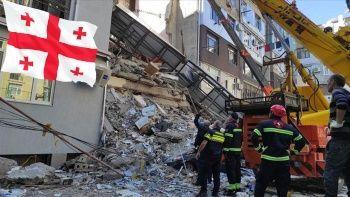 Gürcistan'da 7 katlı bina çöktü! 7 kişi öldü ulusal yas ilan edildi