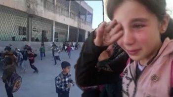 İdlib'e saldırı anında öğrencilerin korkusu
