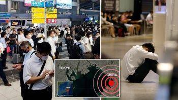 Japonya'daki 5.9'luk depremde tren raydan çıktı 32 kişi yaralandı