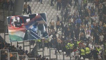 Marsilya-Galatasaray maçındaki provokasyonun görüntüleri ortaya çıktı!