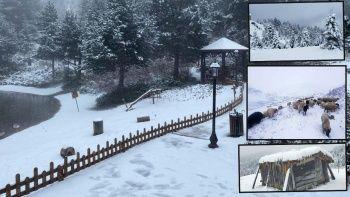 Mevsimin ilk karı yağdı! Yurdun dört yanı beyaza büründü