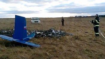 Rusya'da küçük uçak düştü