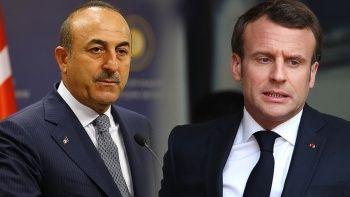 Son dakika! Bakan Çavuşoğlu'ndan Macron'a 'sömürge' tepkisi