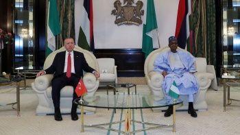 Erdoğan Nijerya'ya savunma sanayiinde iş birliği teklifi