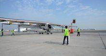 Uçak sadece güneş enerjisiyle çalışıyor