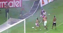 Brezilya'da oynanan şampiyonluk maçı olaylı bitti