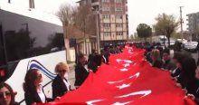 Iğdır'da dev bayraklı '81 İl Tek Yürek' yürüyüşü