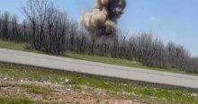 Yola tuzaklanan bombalar İşte böyle imha edildi
