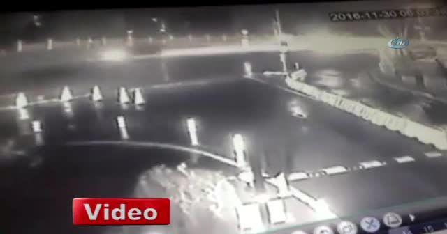 Ünlü oyuncu Erdal Tosun'un hayatını kaybettiği kaza kamerada