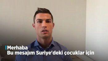 Cristiano Ronaldo'dan Suriyeli çocuklara mesaj