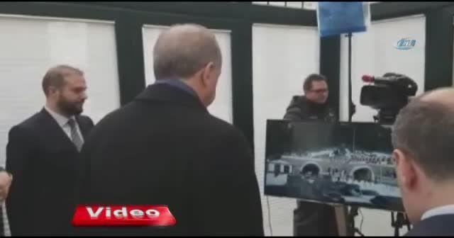 Erdoğan, Ilgaz Tüneli açılışını böyle izledi