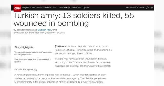Kayseri saldırısı dünya basınında