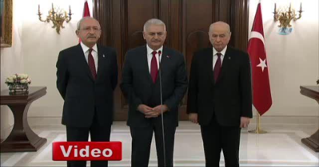 Liderlerden ortak basın açıklaması