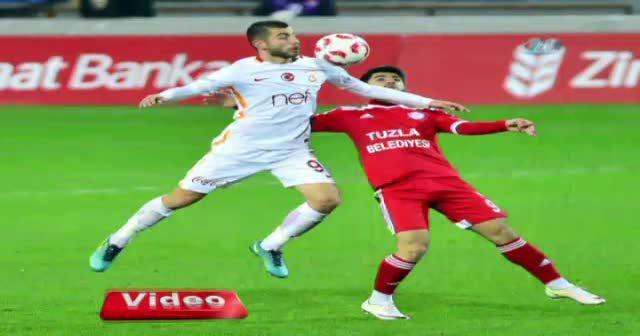 Tuzlaspor Galatasaray maçı foto özet