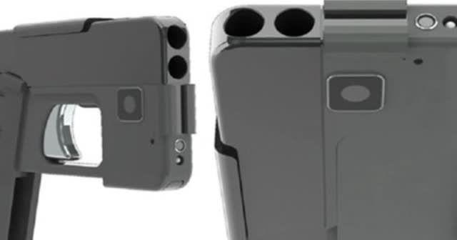iPhone görünümlü silah