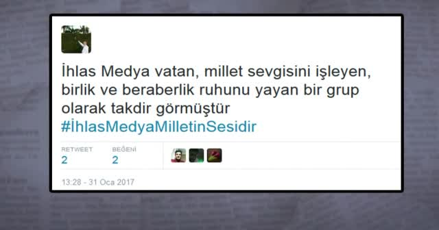 İhlas Medya'ya Twitter'dan destek