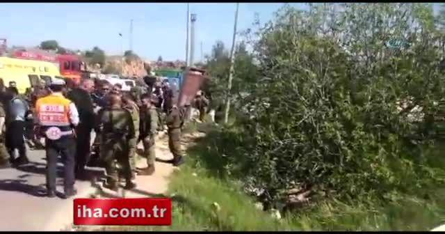 Filistinli sürücü, kendisine ateş açan İsrail askerini ezdi
