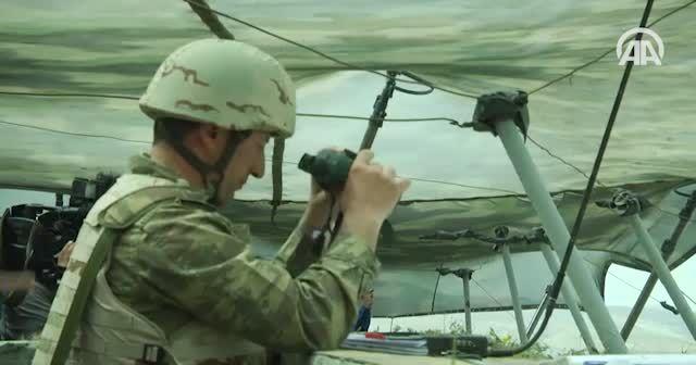 Türkiye-Azerbaycan askeri tatbikatı savaş sahnelerini aratmadı