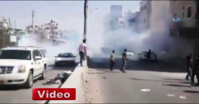 İsrail askerlerinden Filistinlilere sert müdahale