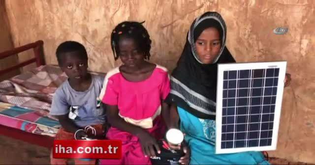 Sudan'da solar enerji evleri aydınlattı