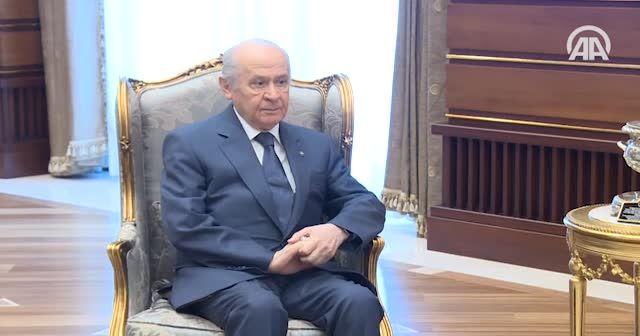Erdoğan ile MHP Genel Başkanı Bahçeli görüştü