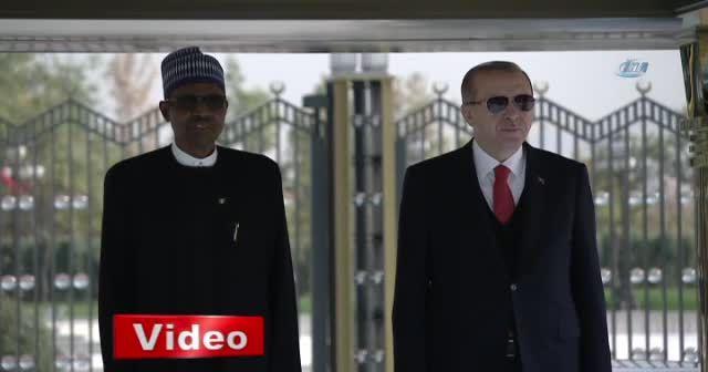 Erdoğan, Nijerya Cumhurbaşkanı Buhari'yi resmi törenle karşıladı