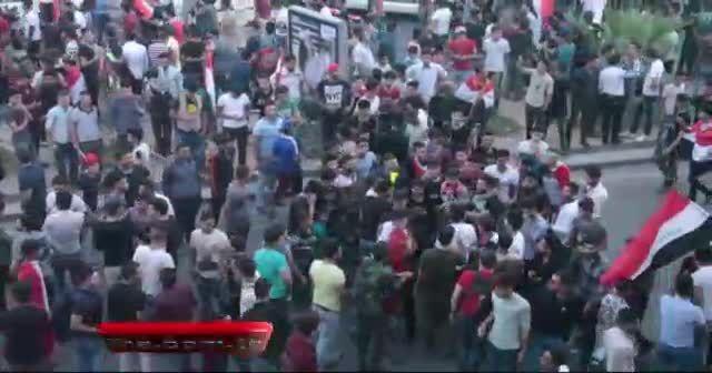 Kerkük'te dev Irak bayrağı açıldı