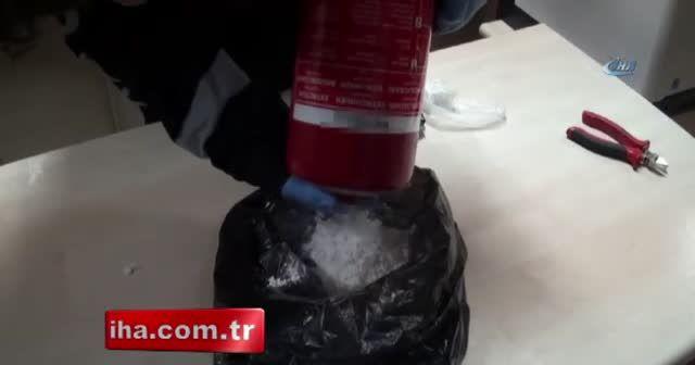 Yangın söndürme tüpünde kokain sevkiyatı