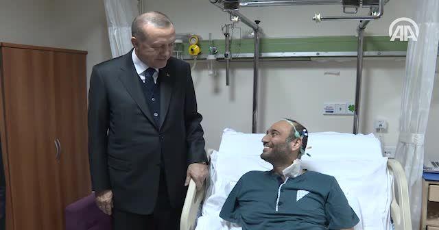 Erdoğan ve Yıldırım'dan hasta ziyareti