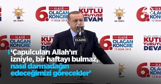 Erdoğan: Teslim olmazlarsa orayı da başlarına yıkacağız
