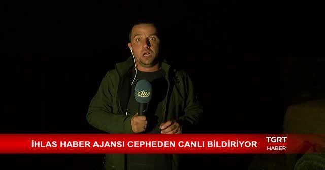 TGRT Haber ekibi silahların arasında yayın yaptı