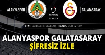 Alanyaspor Galatasaray şifresiz İZLE