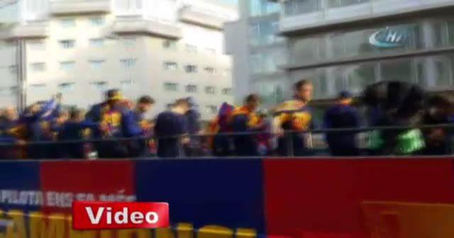 Barcelona'dan muhteşem şampiyonluk kutlaması