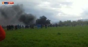 Cezayir'de uçak düştü! 100'den fazla ölü var