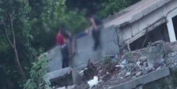 Çakmak Gazı çeken çocukların içler acısı hali kamerada