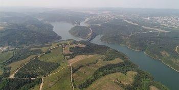 İstanbul'un barajlarındaki son durum havadan görüntülendi