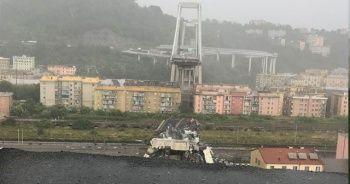 İtalya'da otoyol köprüsü çöktü