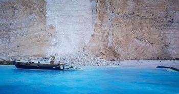 Yunanistan'ın Zakynthos adasında çökme yaşandı