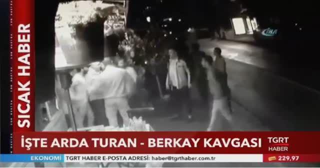 Arda Turan ile Berkay'ın kavgasının görüntüleri ortaya çıktı