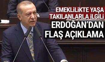 Cumhurbaşkanı Erdoğan'dan emeklilikte yaşa takılanlar ile ilgili flaş sözler (Erdoğan EYT açıklaması)