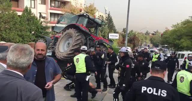 TBMM yakınında polis ekipleri bir traktörü durdurmak için ateş açtı