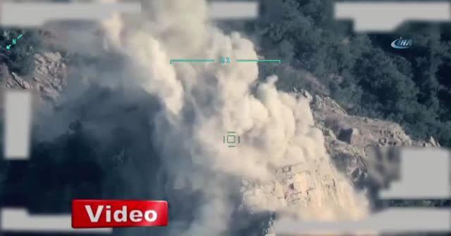 TSK, Irak'ın kuzeyine düzenlenen hava harekatının görüntülerini paylaştı