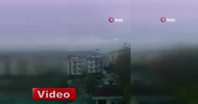 Düşen helikopterin son görüntüleri
