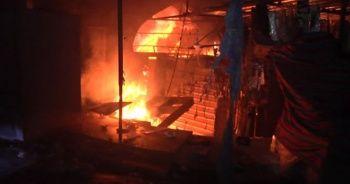 Kerkük'teki Tarihi Osmanlı Çarşısı alev alev yandı